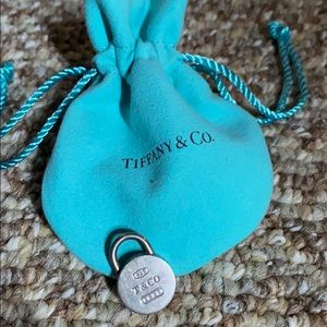 Tiffany & Co Silver Round Lock Pendant